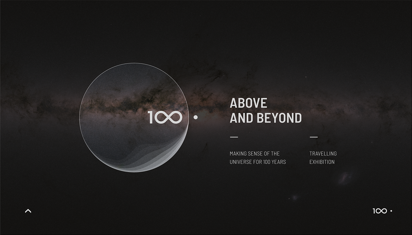 IAU100 exhibition – branding and visual design